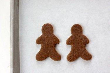 Gingerbread men ready for baking.