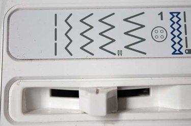 Sewing machine controls for zig zag stitch