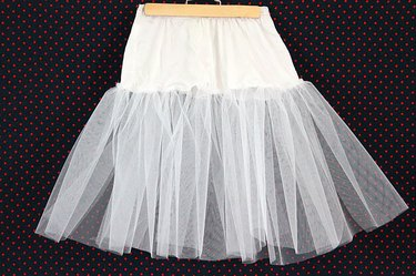 finished crinoline with one layer of netting