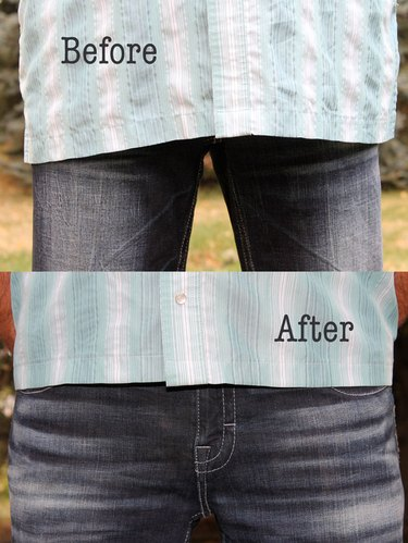 before and after of the shirt