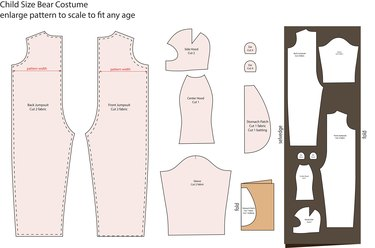 Print and enlarge this image to scale to create a pattern for a bear costume.