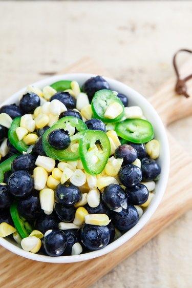 Blueberry lime jalapeno salsa