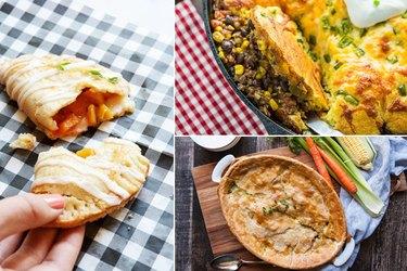 hand pie, tamale pie and chicken pot pie.