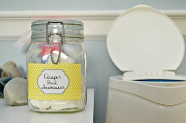 freshen your diaper pail with this easy tutorial