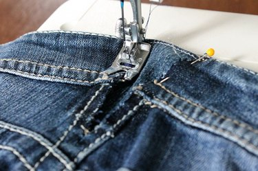 sew denim piece