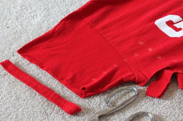 cutting off hem on sleeve