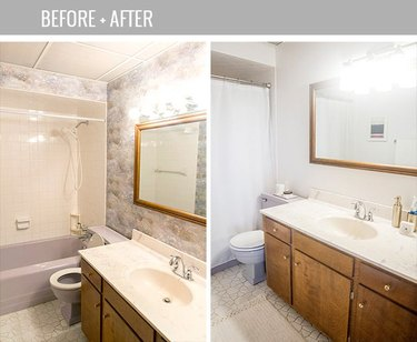 Before and after wallpaper removal