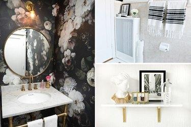 Collage of bathroom renovation ideas