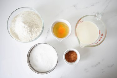 Ingredients needed for the recipe set out.