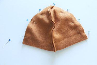 sew hat top body together