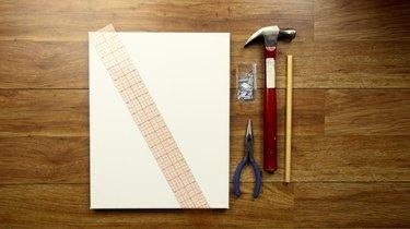Materials for DIY simple frame weaving loom