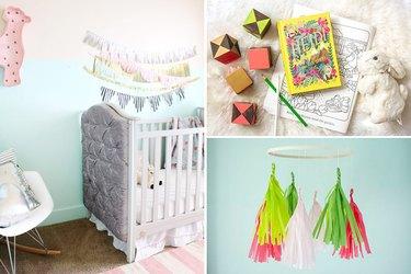 Surprisingly Easy DIY Ways to Decorate a Nursery