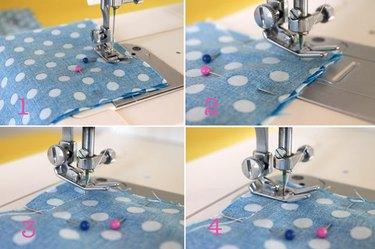 steps to sew corners