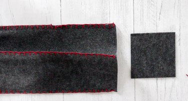 attach all four sides with a blanket stitch