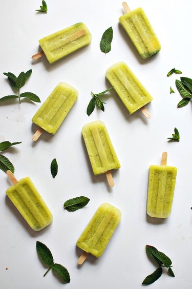 cucumber pineapple mint popsicles