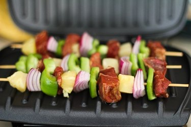 Kabobs on a George Foreman Grill.