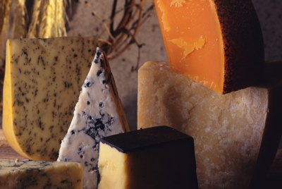 Variety of Cheese, High Angle View