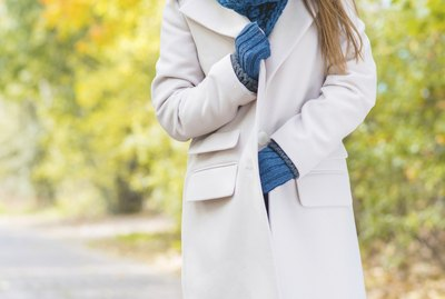 Woman Wearing Long Coat Outside in Autumn