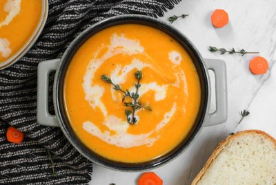 Cleansing ginger carrot soup