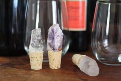 DIY Crystal Wine Stoppers