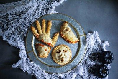 Three Halloween hand pies