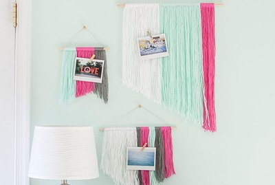 Budget-Friendly DIY Yarn Wall Hangings