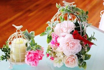 bird cage floral