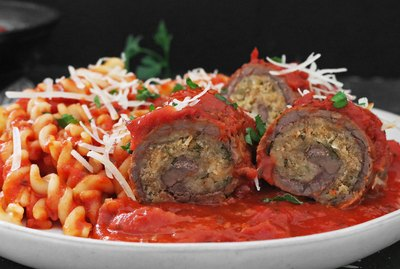 Beef braciole steak