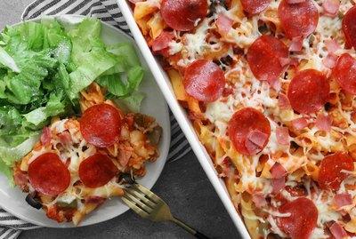 Pizza casserole recipe
