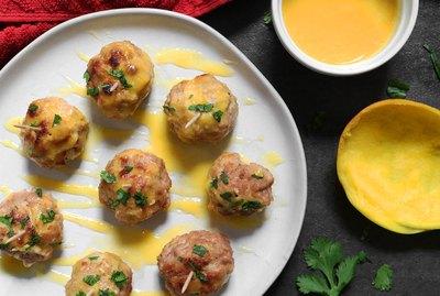 Mango habanero meatballs