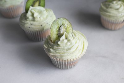 These kiwi cupcakes are the perfect summer treat.