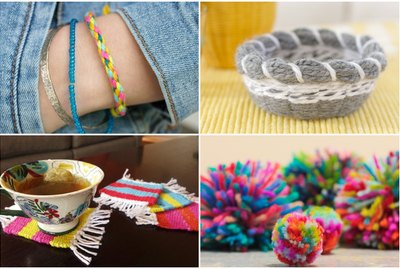 10 Fun & Easy Yarn Craft Ideas