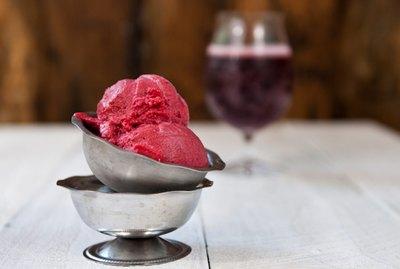 Raspberry Lambic Sorbet Recipe