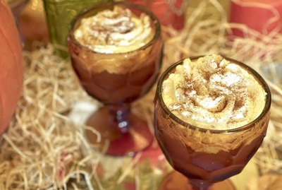 Pumpkin Pie Punch with whipped topping