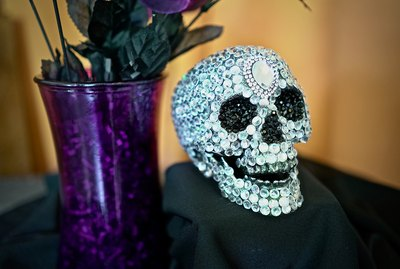 DIY Studded Halloween Skull