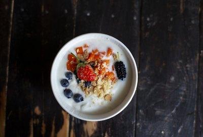 homemade yogurt with fresh fruits