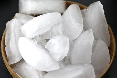 Full frame of ice cubes