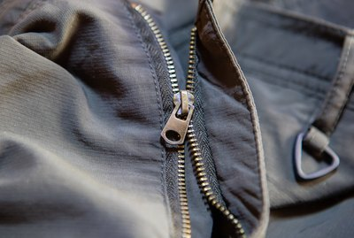 Old and damaged zipper