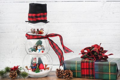 diy fishbowl snowman