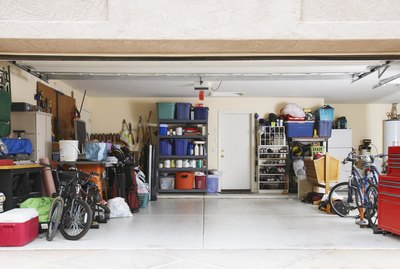 Inside of an organized garage