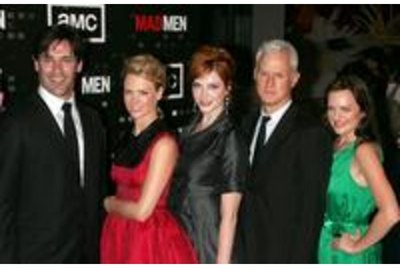 "Cast Of ""Mad Men"" Rings The New York Stock Exchange Opening Bell"