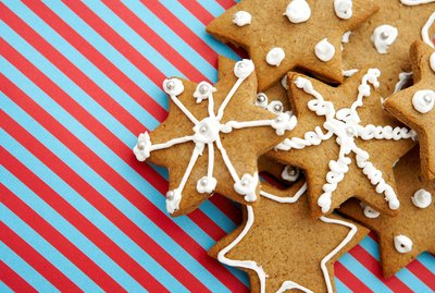 Frosted star cookies