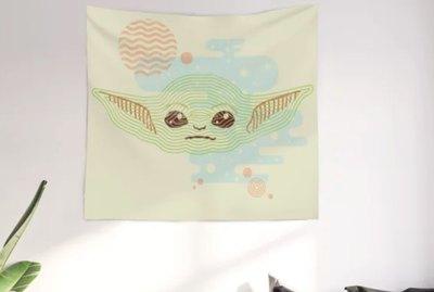 baby yoda mural