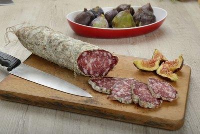 Italian salami sliced