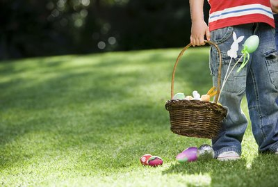 Boy holding Easter basket