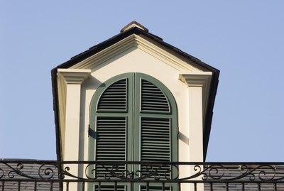 Dormer window, low angle view