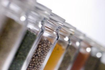 Seasonings in jars