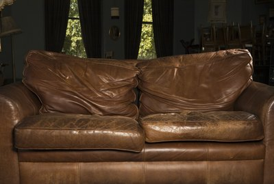 A leather couch