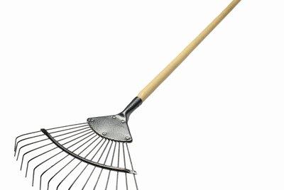Close up of a rake