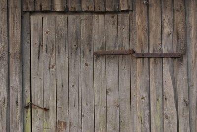 Old-fashioned barn door